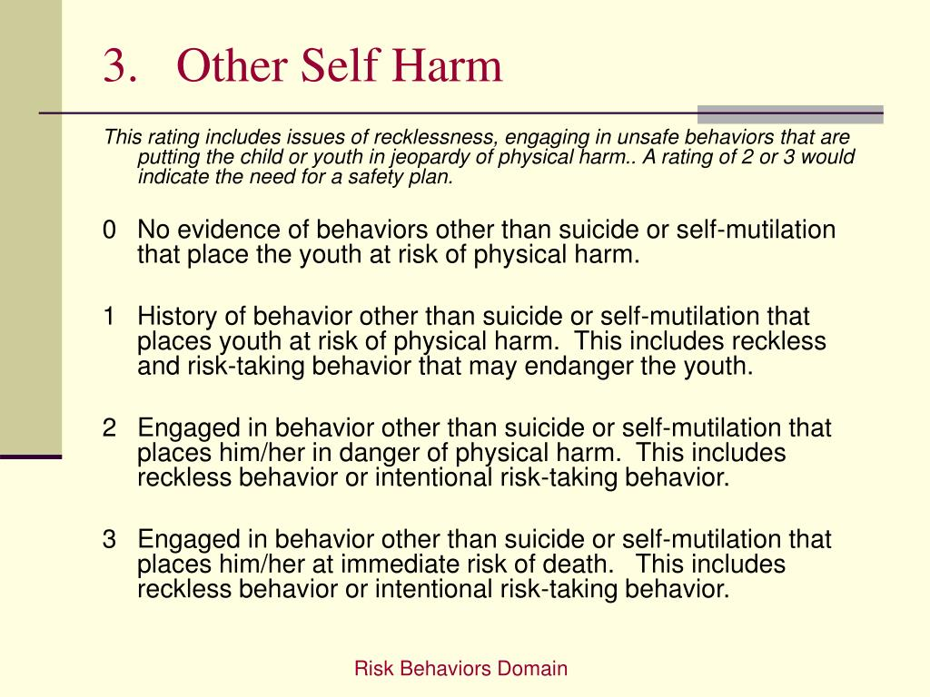 3.   Other Self Harm
