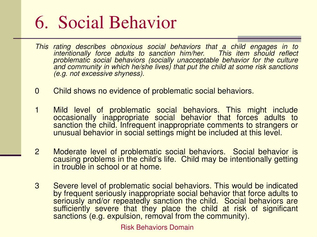 6.  Social Behavior