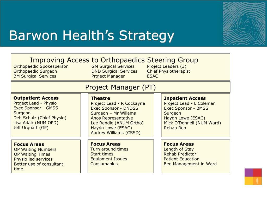Barwon Health's Strategy