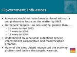 government influences