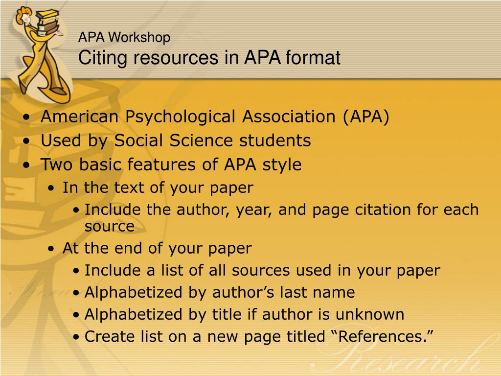 how to give citation on ppt