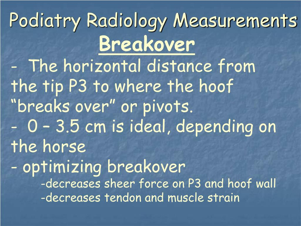 Podiatry Radiology Measurements