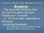 podiatry radiology measurements