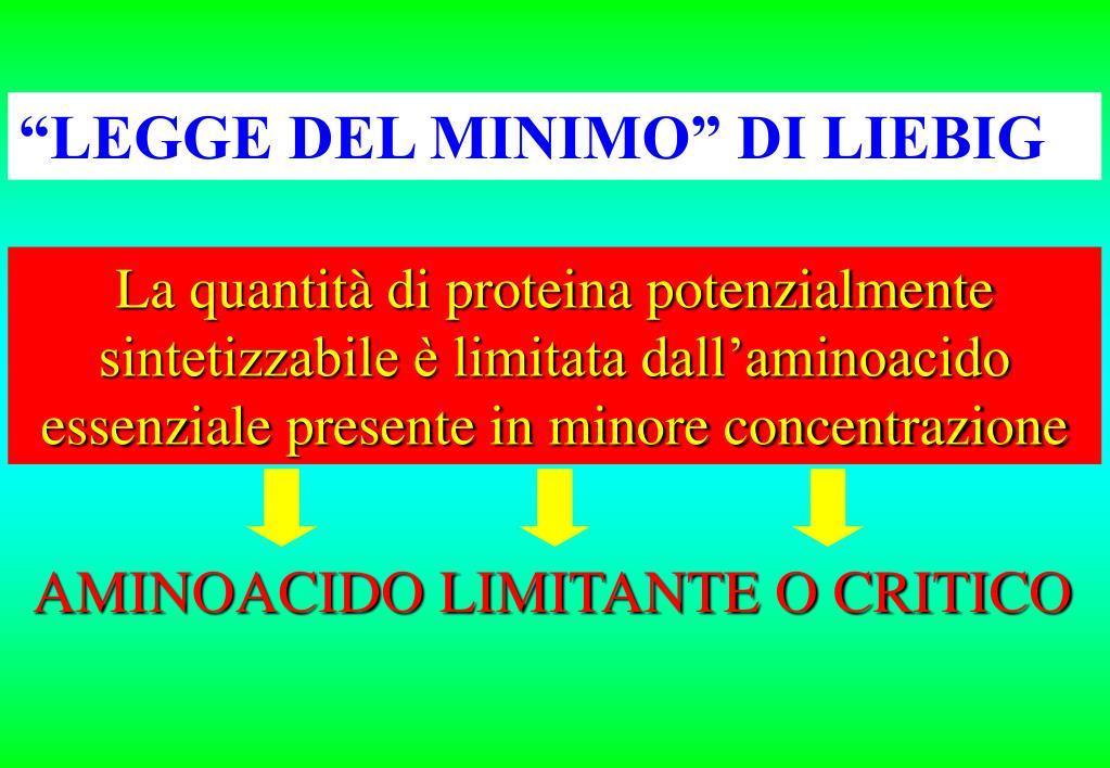 """""""LEGGE DEL MINIMO"""" DI LIEBIG"""