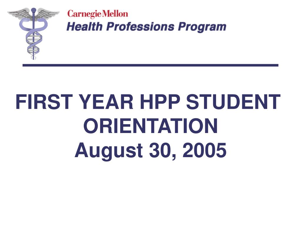 FIRST YEAR HPP STUDENT