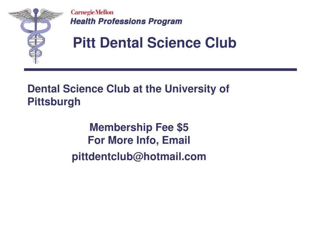 Pitt Dental Science Club