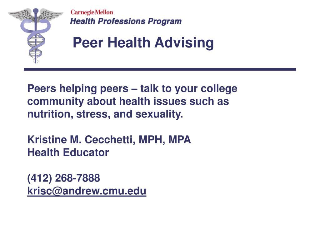 Peer Health Advising