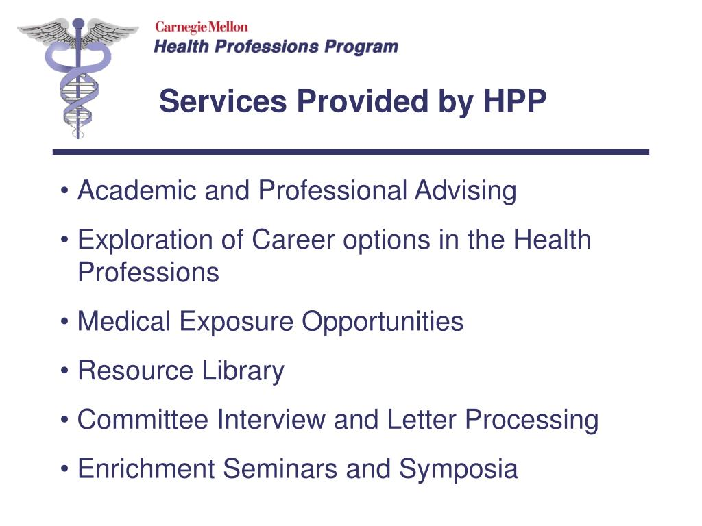Services Provided by HPP
