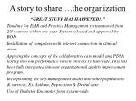 a story to share the organization