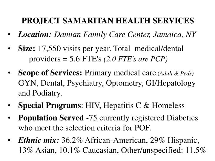 Project samaritan health services