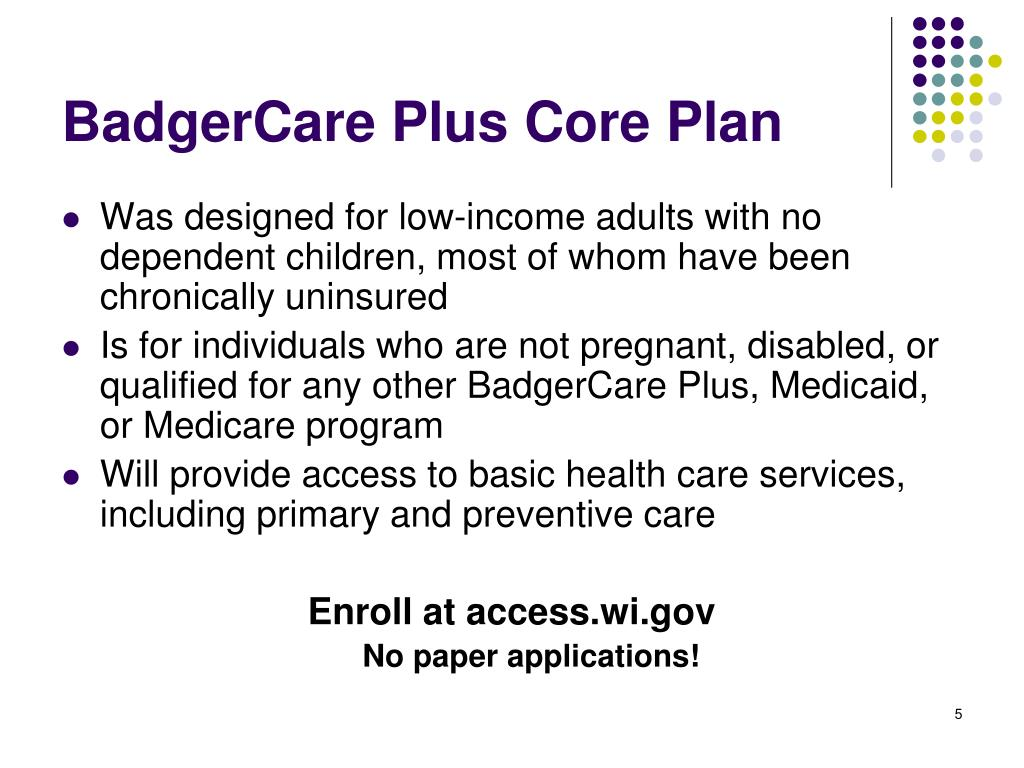 BadgerCare Plus Core Plan