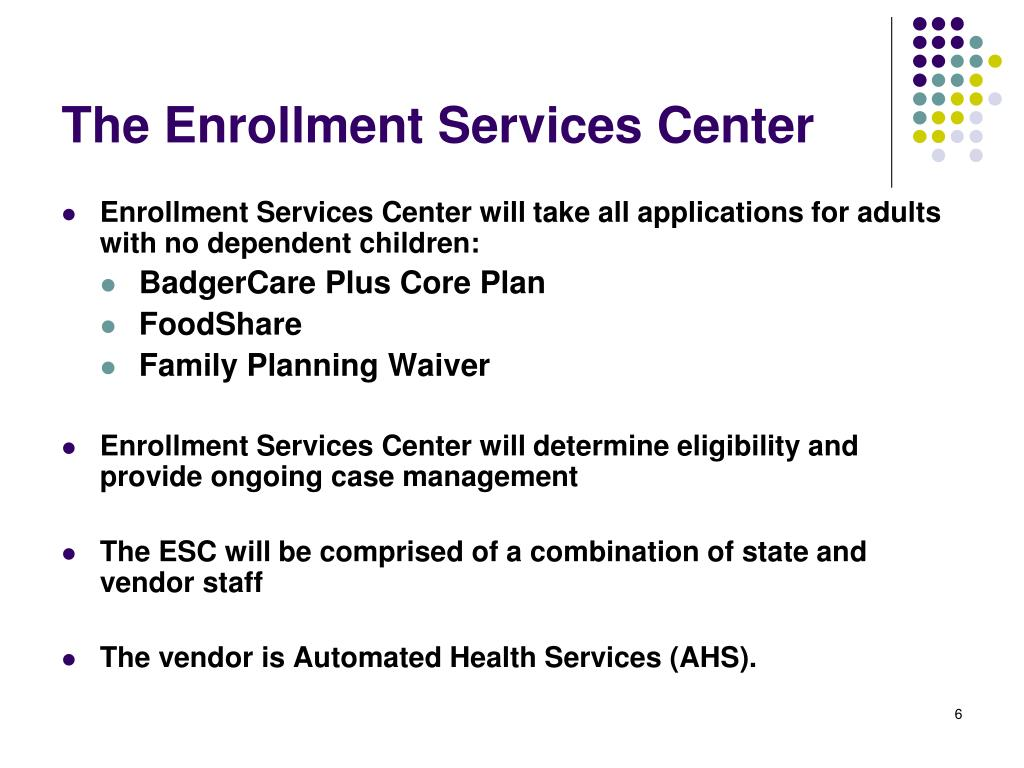 The Enrollment Services Center