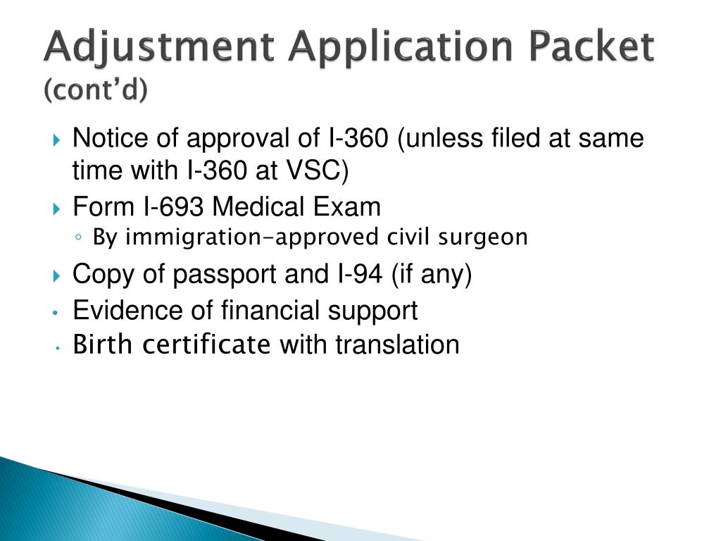 Adjustment Application Packet