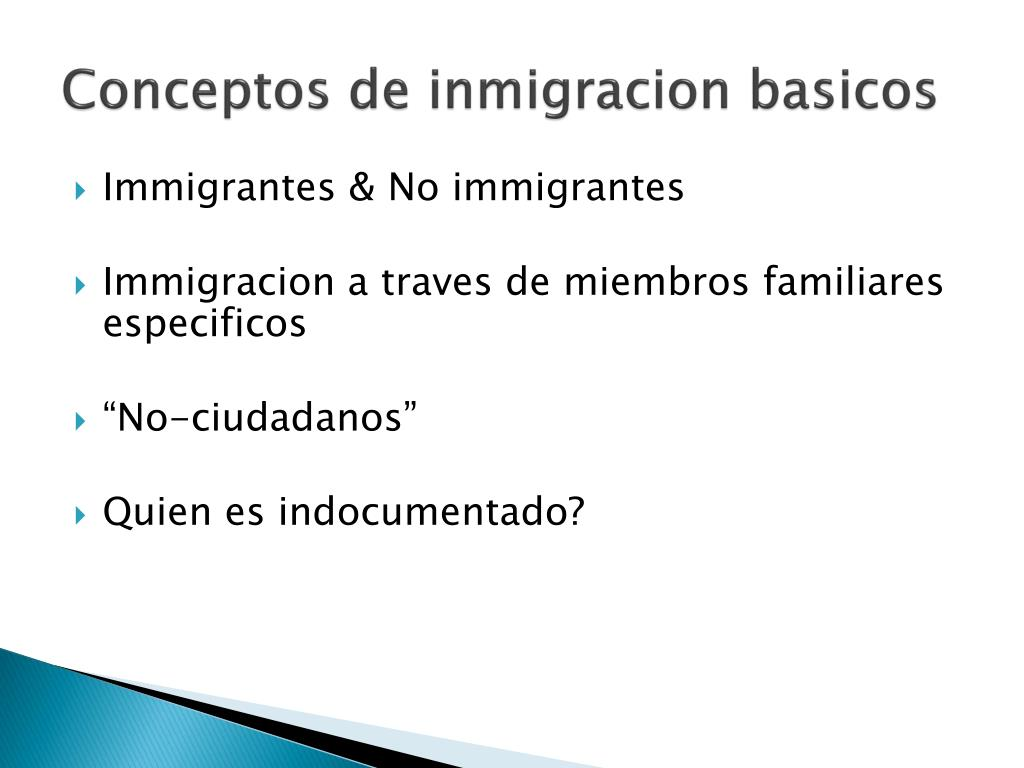 Conceptos de inmigracion basicos