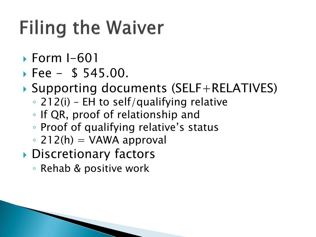 Filing the Waiver