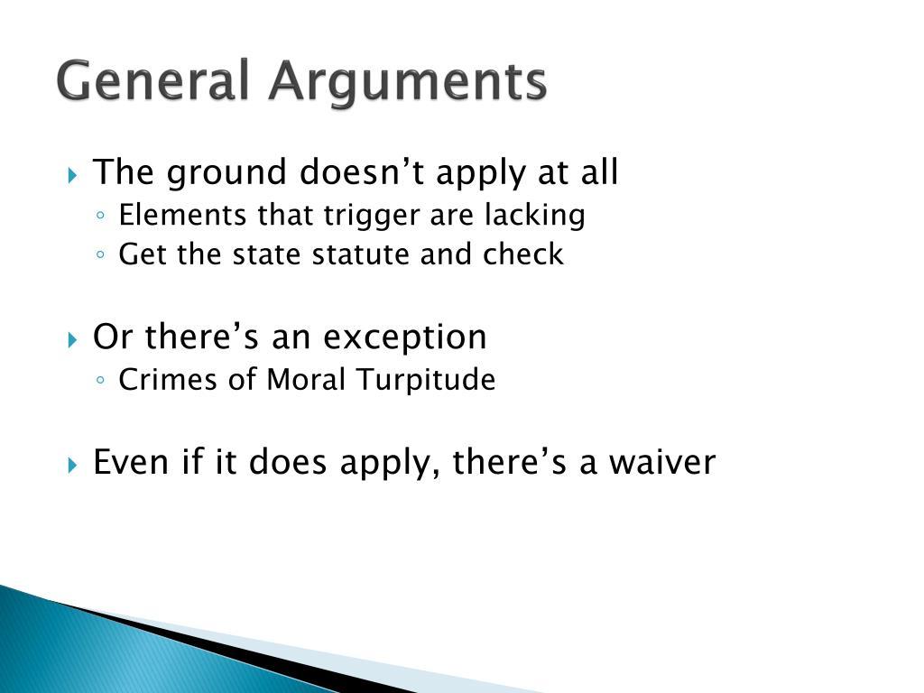 General Arguments