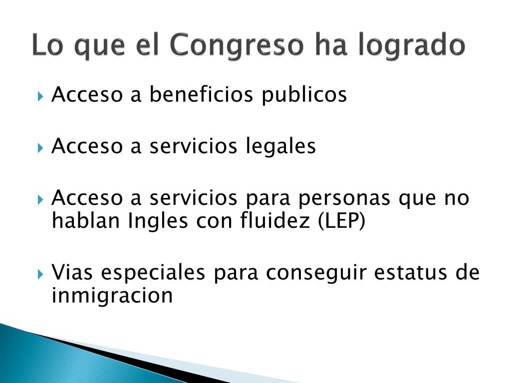 Lo que el Congreso ha logrado