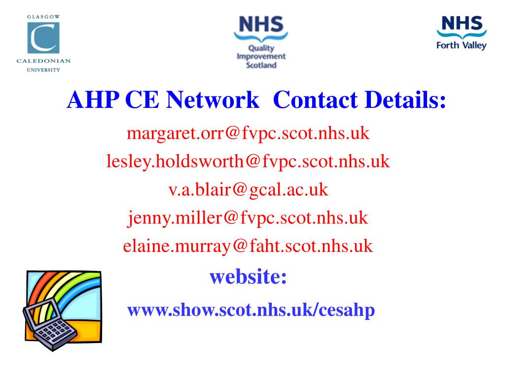 AHP CE Network  Contact Details: