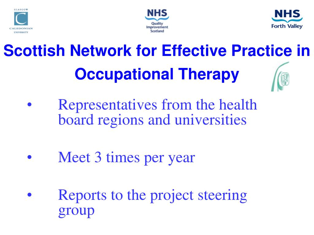 Scottish Network for Effective Practice in Occupational Therapy
