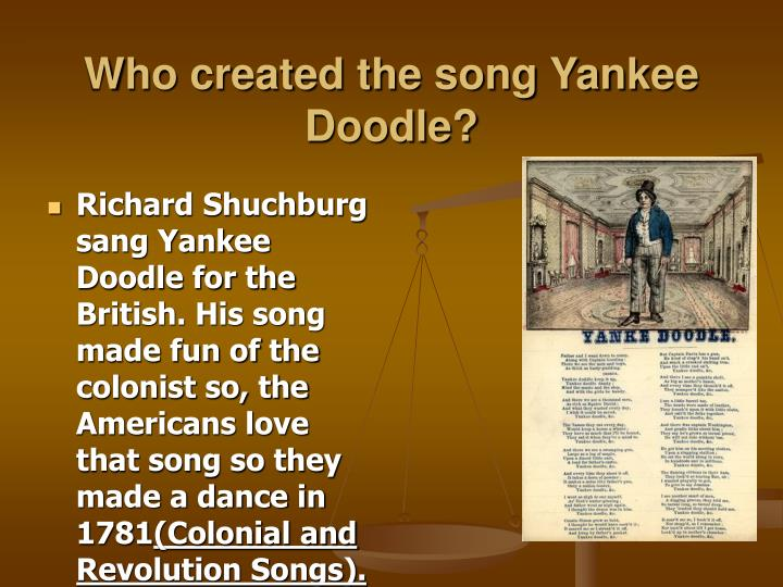 Who created the song yankee doodle