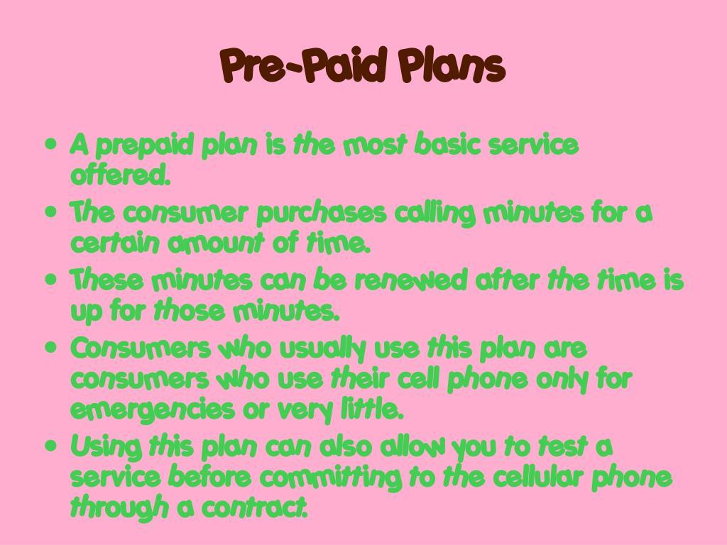 Pre-Paid Plans