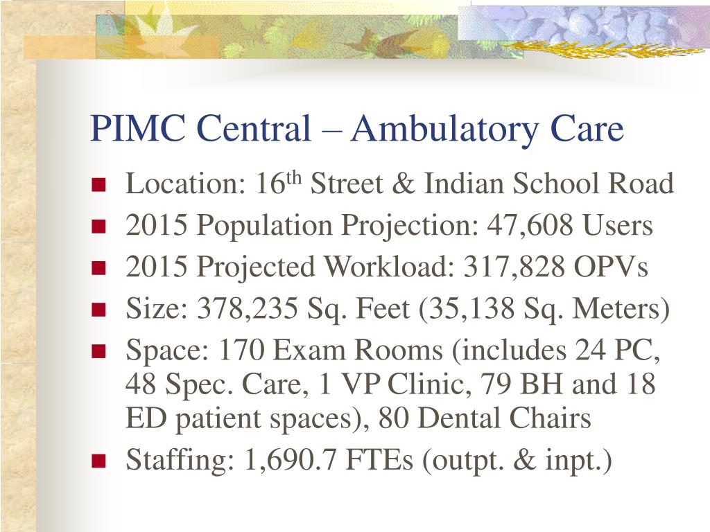 PIMC Central – Ambulatory Care
