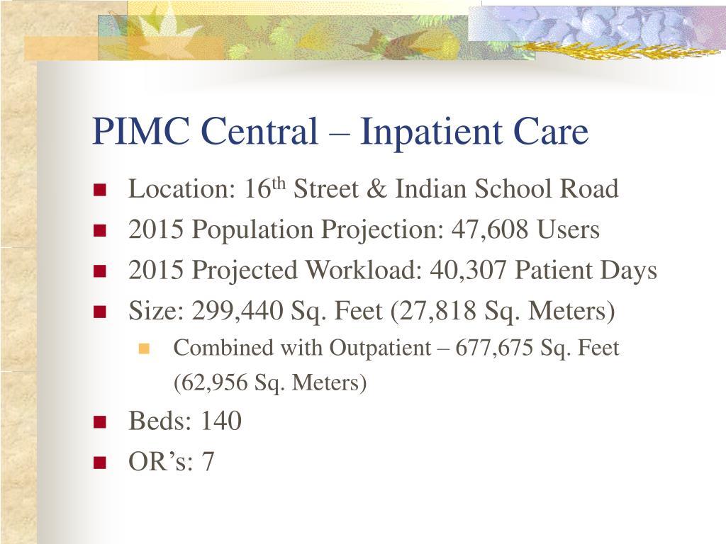 PIMC Central – Inpatient Care