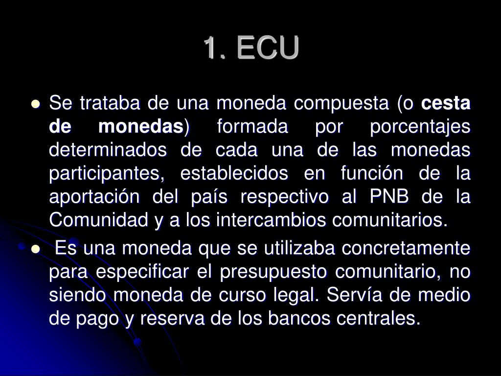 1. ECU
