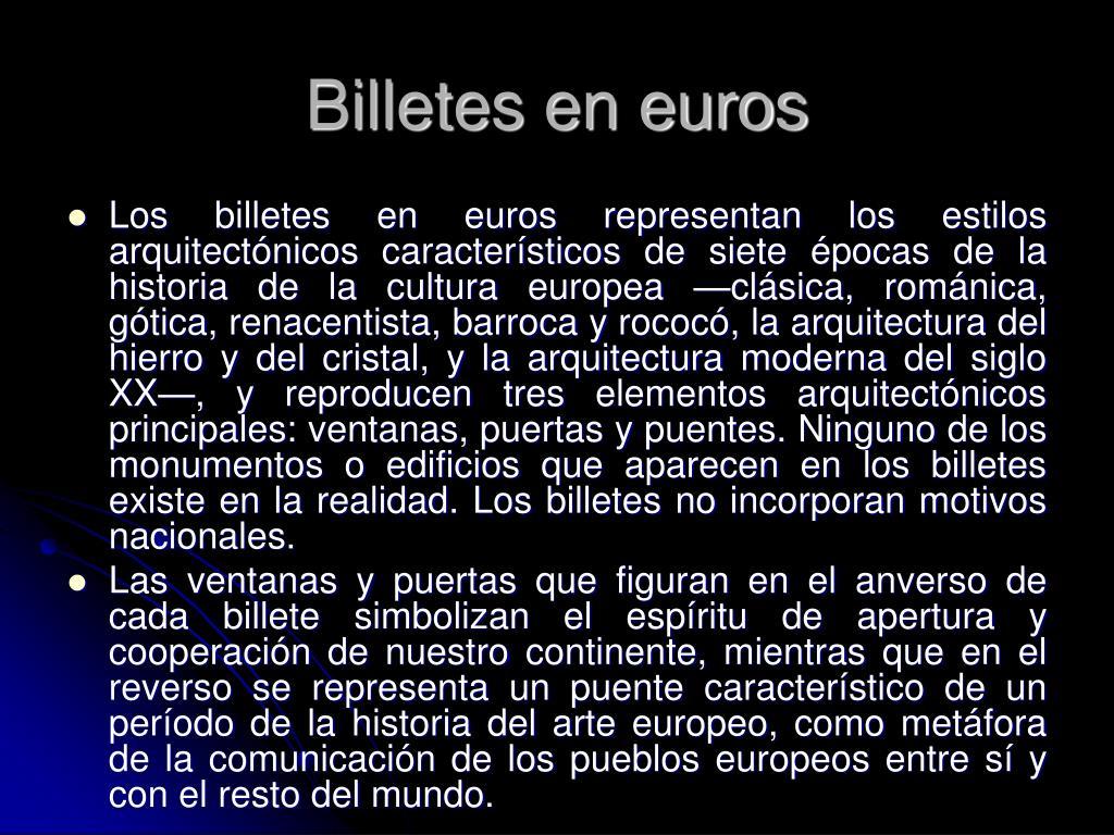 Billetes en euros