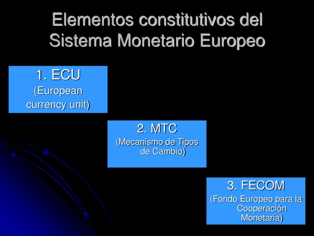 Elementos constitutivos del Sistema Monetario Europeo
