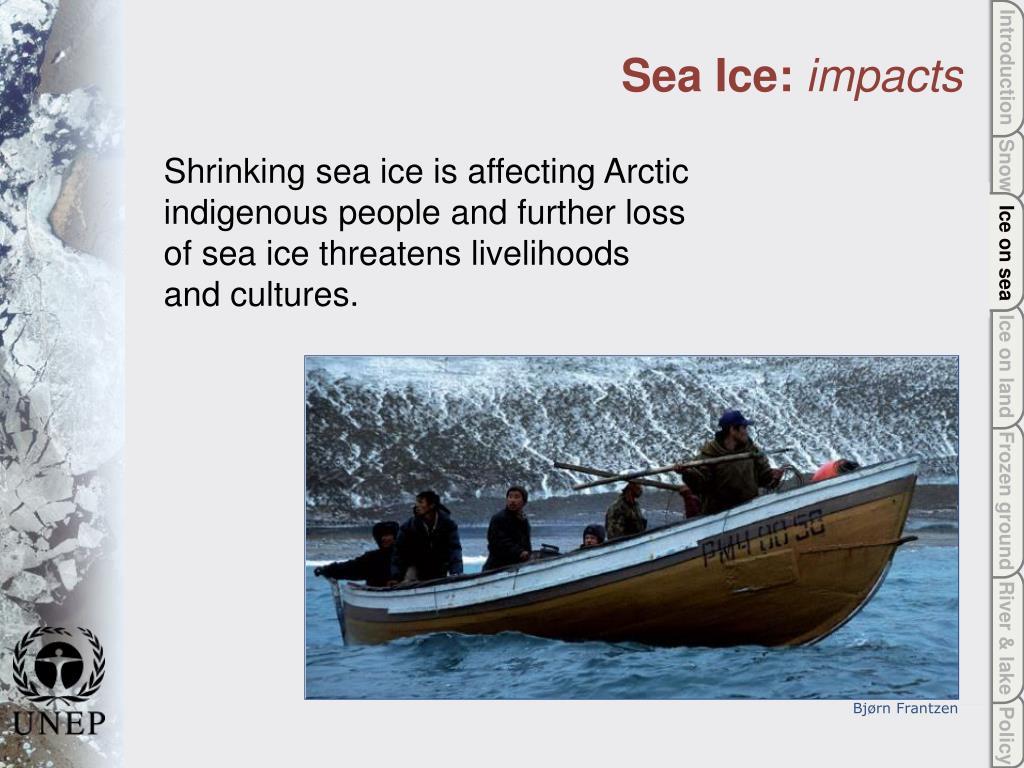 Ice on sea