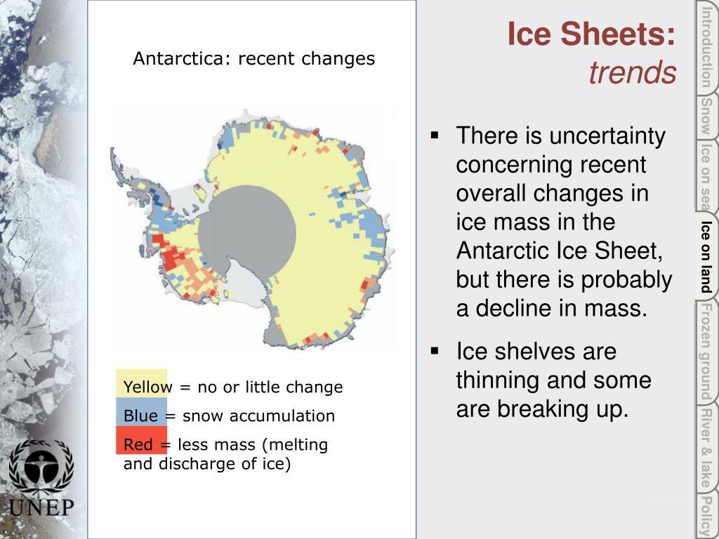 Ice on land