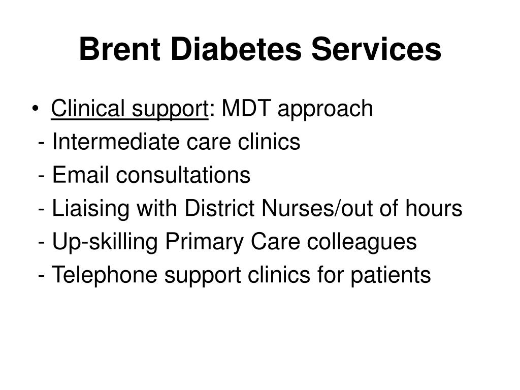 Brent Diabetes Services