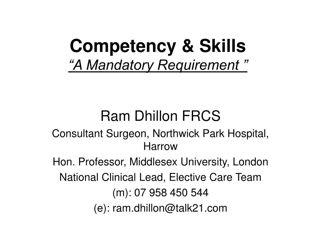 Competency & Skills