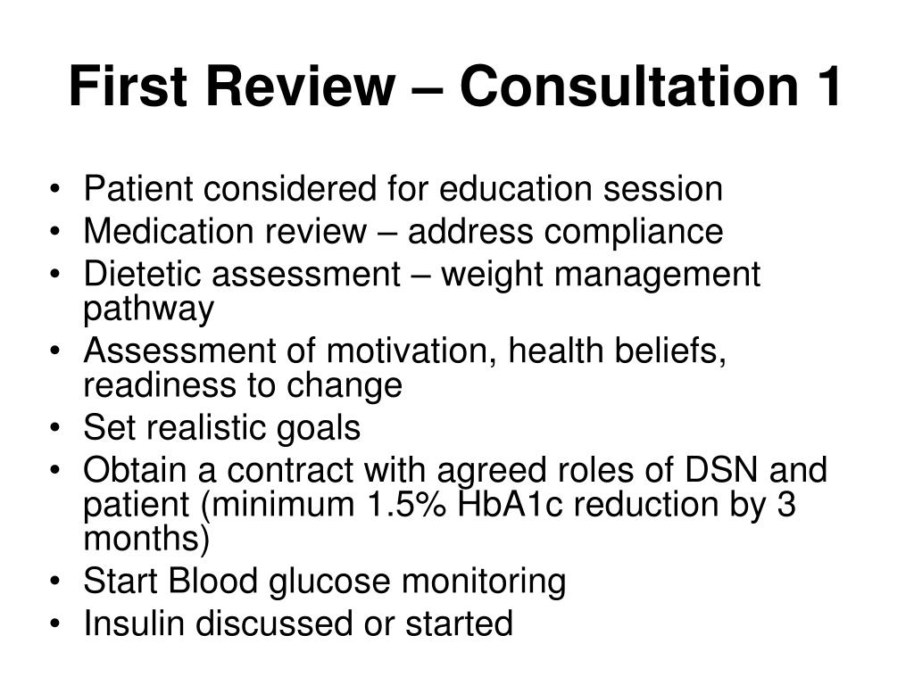 First Review – Consultation 1