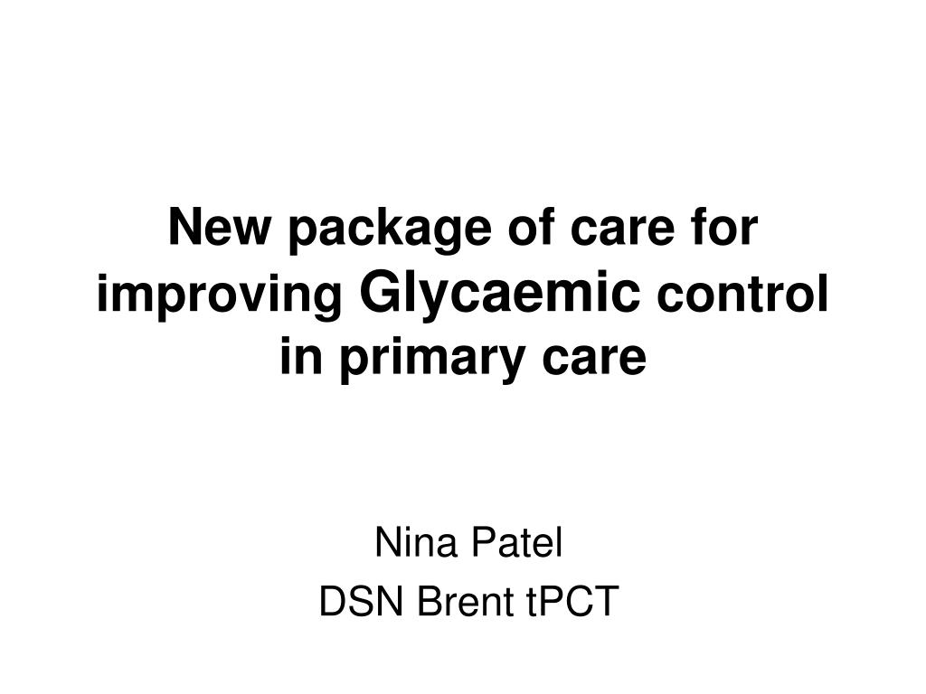 New package of care for improving