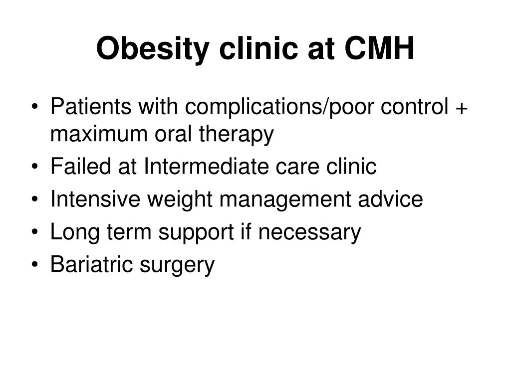 Obesity clinic at CMH