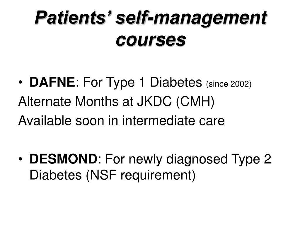 Patients' self-management courses
