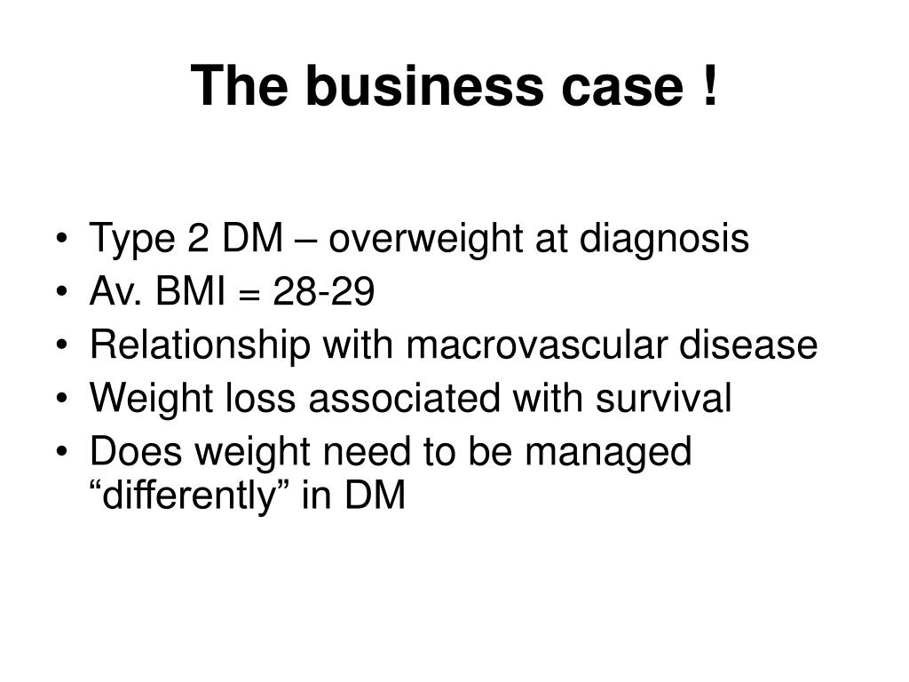 The business case !