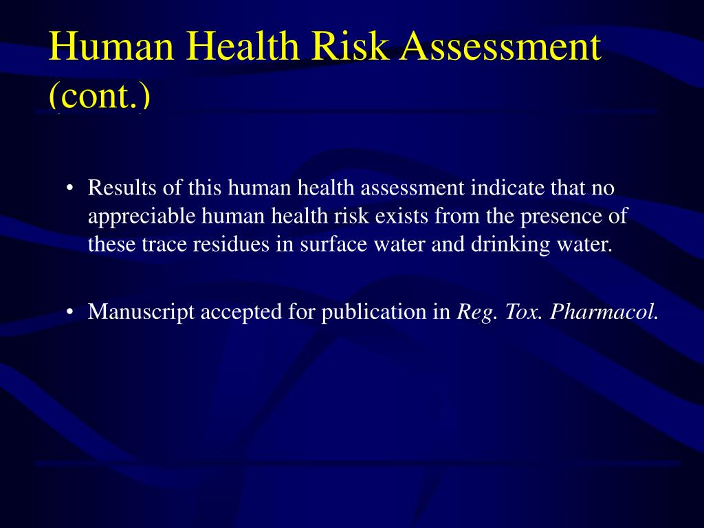 PPT - Pharmaceuticals In The Environment (PIE): Assessing ...
