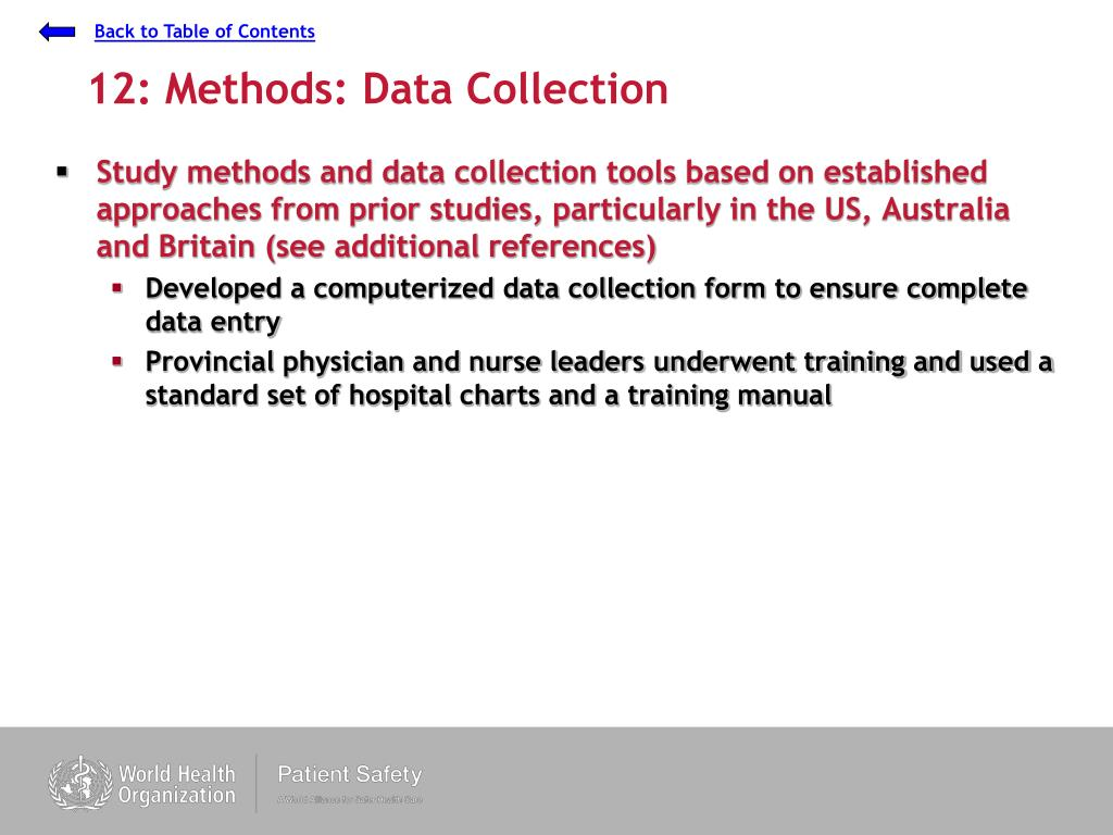 12: Methods: Data Collection