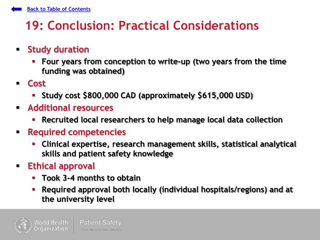 19: Conclusion: Practical Considerations