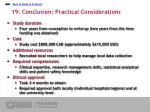 19 conclusion practical considerations