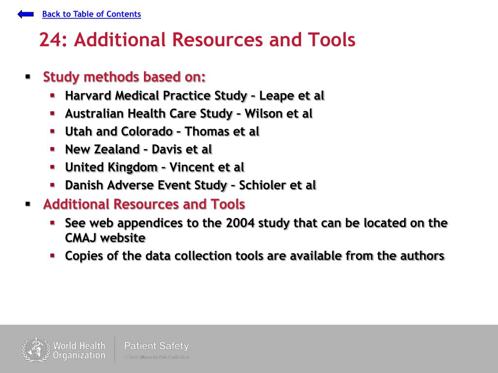 24: Additional Resources and Tools