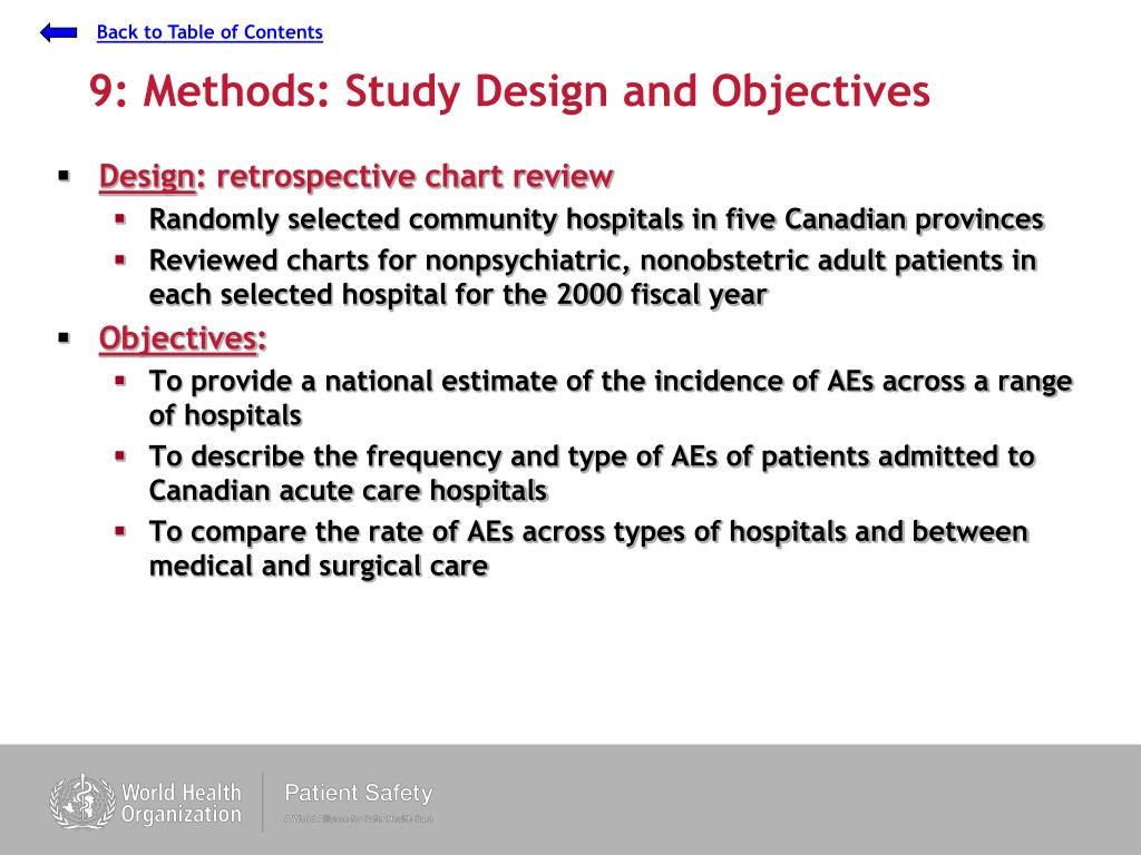 9: Methods: Study Design and Objectives