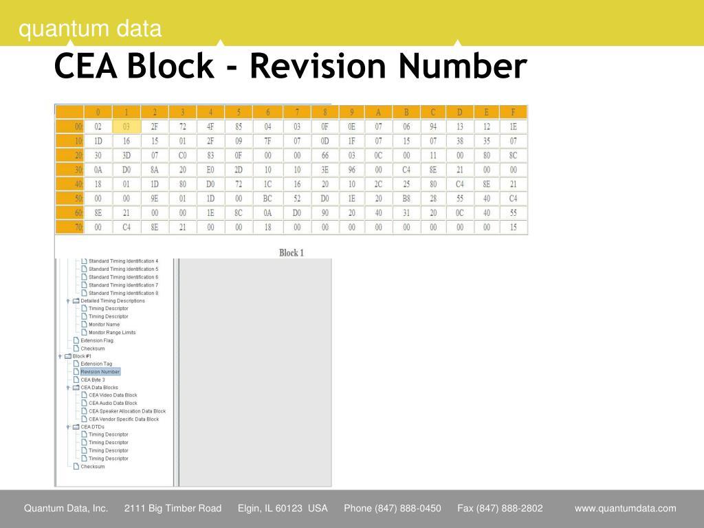 CEA Block - Revision Number