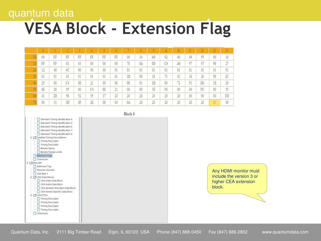 VESA Block - Extension Flag