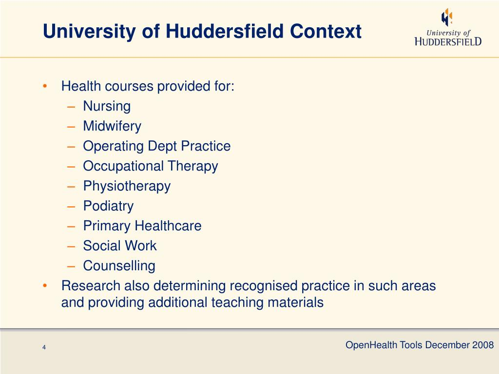 University of Huddersfield Context