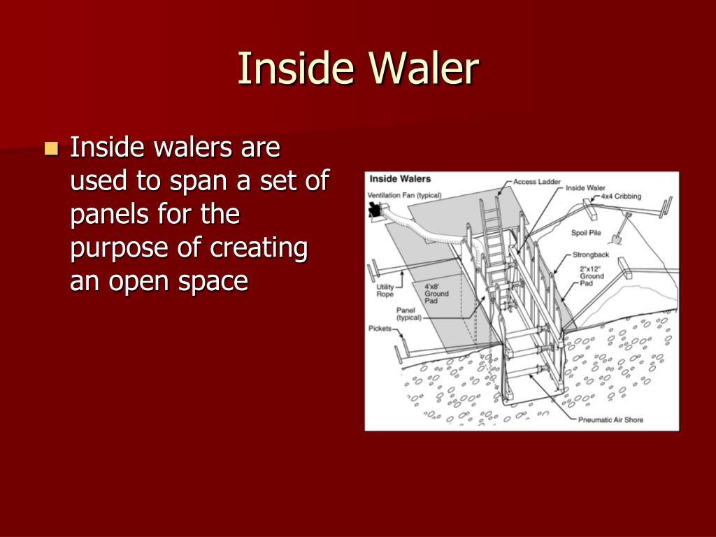 Inside Waler