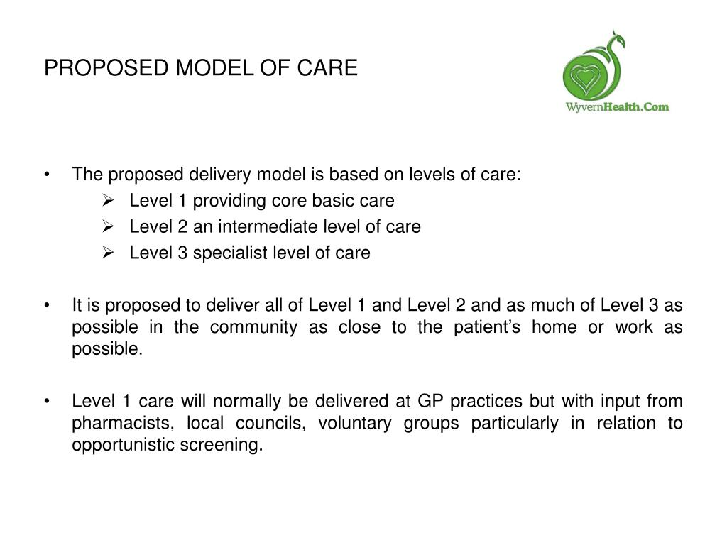 Proposed Model of Care